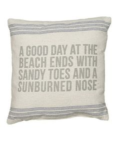 A good day at the beach ends with sandy toes and a sunburnednose.  #zulilyfinds