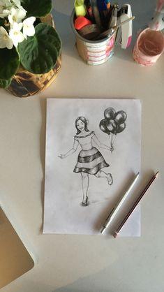 Drawing, disney, balloon, spring, summer