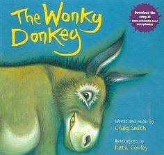 I chose this book because it is a story and song about a donkey. I also chose it because the use of rhyming words made it more interesting and memorable. (2017) The Book Depository. Retrieved from: https://www.bookdepository.com/The-Wonky-Donkey-Craig-Smith-Katz-Cowley/9780545261241?ref=grid-view&qid=1492351226379&sr=1-1