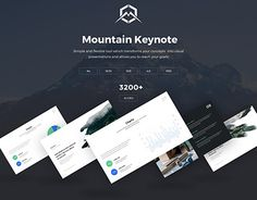 """Check out new work on my @Behance portfolio: """"Mountain Keynote Presentation Template"""" http://be.net/gallery/50159401/Mountain-Keynote-Presentation-Template"""