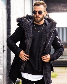 Men's Quilted Winter Coats   Hooded Faux Fur Lined Parka   Jacket   Puffer Coat  Parka   HighQuality