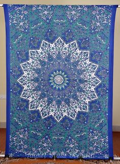 Indian Tapestry Mandala Floral Printed Wall Hanging Bohemian Bed Sheet Decor Art #JaipurKalaKendra
