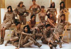 AZZEDINE ALAIA faux leopard fur jacket with frog closure image 3