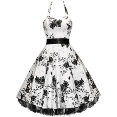 $48.49 Vintage Halterneck Floral Print Sleeveless Pleated Country Western Dresses For Women