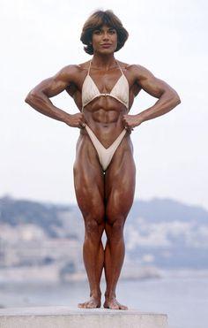 Fantastic looking 1980's Dutch bodybuilder Juliette Bergmann