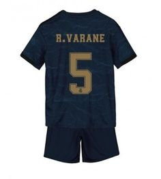Real Madrid Raphael Varane #5 Segunda Equipación Niños 2019/20 Manga Corta (+ Pantalones cortos) Equipacion Real Madrid, Sports, Tops, Fashion, Soccer Shirts, Short Shorts, Hs Sports, Moda, Fashion Styles