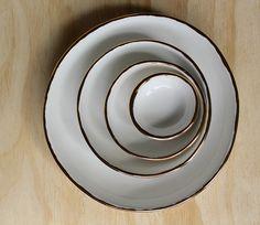 Claybird is the boutique ceramic studio of Yon Kavvas based in Auckland, New Zealand. Nesting Bowls, Rusty Metal, Ceramic Studio, Swirls, Shabby, Carving, Bronze, Plates, Ceramics