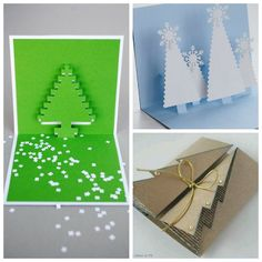Some paper, a few folds and you can have beautiful Christmas card in minutes. Here are 9 of our favorite techniques.    #Christmas, #How-To