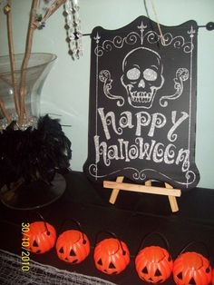 DIY happy halloween sign