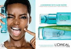 Angolan TopModel Maria Borges looks absolutely radiant for L'Oréal- Skin Expert/Paris