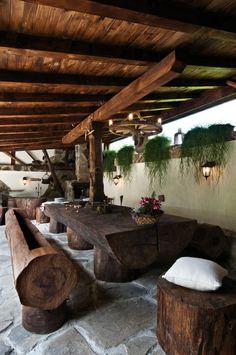 Awesome log furniture