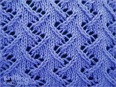 Zig Zag Lace Stitch Pattern