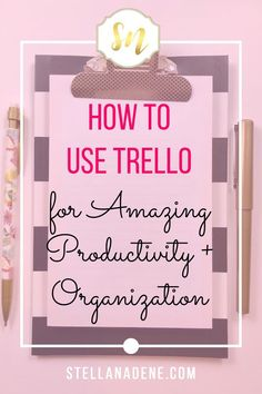 How I use Trello to stay organized and productive, at home and at work. Trello tutorial, step by step how to use Trello, the Kanban inspired system for getting organized. #organize #organizedhome #productivityhack #productivity #kanban #projectmanagement #girlboss #girlbosslife