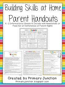 Classroom Freebies: Building Writing Skills At Home - Parent Handouts