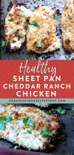 Healthy Baked Cheddar Ranch Chicken - Organize Yourself Skinny Cheddar Ra. Healthy Baked Cheddar Ranch Chicken - Organize Yourself Skinny Cheddar Ranch Baked Crispy Chicken Recipe (Boneless) Skinny Chicken Recipes, Crispy Chicken Recipes, Ranch Chicken Recipes, Healthy Chicken Recipes For Weight Loss Clean Eating, Ranch Cheddar Chicken, Skinny Meals, Healthy Dinner With Chicken, High Protein Chicken Recipes, Healthy Recipes With Chicken