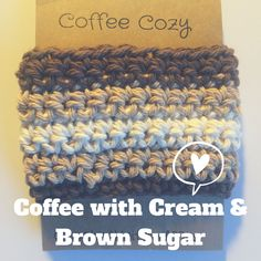 This coffee was inspired by a delicious cup of coffee with cream and brown sugar! This Cup Cozy Cup Sleeve or Crochet Coffee Sleeve is Reusable. This is a great Coffee Cozy for your coffee or tea cups. This design was inspired by my love for coffee! Just looking at this cozy makes me want one. :)  Perfect to keep your hands protected from hot drinks. It is reusable and therefore eco-friendly.  Who doesnt love coffee, a cafe latte or a café con leche? This is a perfect gift idea for teachers…