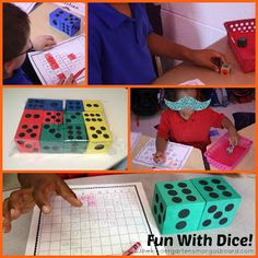 Engaging and easy math center ideas using dice!  Perfect for numbers and counting and building up to addition!