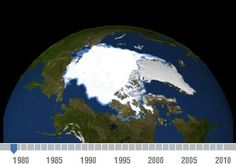 Declining Arctic Sea Ice: 1979-2010 #wow