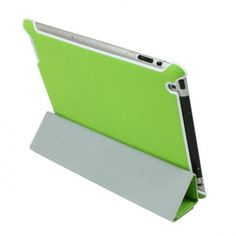 Anti-shock Stylish Polyurethane Leather Microfiber Lining Smart Cover for iPad 2 - Green US$18.99