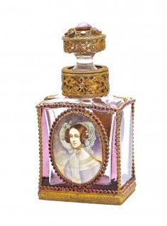 C1920 Czechoslovakian Cased Amethyst Perfume Bottle