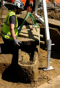 A 2,000-year-old stone coffin with two skeletons inside has been discovered on the grounds of Sydney Gardens in Bath, England. The Bath & North East Somerset Council announced the find on Monday, … Sydney Gardens, Old Stone, Ancient Romans, Skeletons, Somerset, Coffin, Archaeology, England, Bath