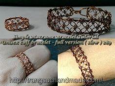 Wire Tutorial - Simple Macrame Bracelet in copper