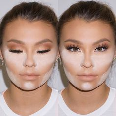 "The technique ""baking"" is super helpful when you want a more highlighted look to your skin. It also gives you a gorgeous soft finish! The before and after of this makeup have NO FILTERS at all so as you can see it's a really effective technique. #SamVisserMakeup by samvissermakeup"