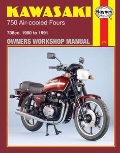 Haynes M574 Repair Manual for 1980-85 Kawasaki 750 Air-cooled Fours 738cc models
