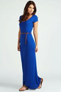 Lottie Cap Sleeve Belted Maxi Dress $15.00 by boohoo.com
