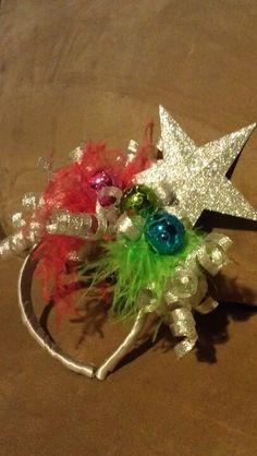 Headband Tacky Christmas Party, Whoville Christmas, Tacky Christmas Sweater, Christmas Hat, Christmas Costumes, Christmas Holidays, Christmas Decorations, Christmas Headbands, Whoville Costumes