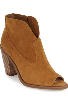 cfd515416f40 Jessica Simpson Open Toe Zip Bootie (Women) available at  Nordstrom Shoes  Heels Pumps