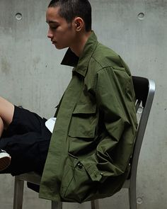 M Goodhood Loves. Military Men, Military Fashion, Mens Fashion, Military Jackets, Hair Care Brands, Famous Brands, Printed Shirts, How To Look Better, Street Wear