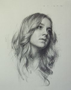 """Natalie"" charcoal, white chalk on paper. 14x11"" 2012. SOLD"