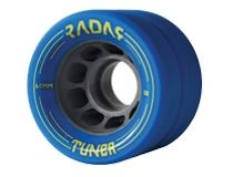 Radar Tuner  Size: 43mm x 62mm Hub: Grey Nylon Hardness: Black 91A, Red 92A, Blue 93A, Pink 94A, Orange 95A, Green 97A  $69.95 Roller Skate Wheels, Quad Roller Skates, Derby, Blue, Orange, Green, Pink, Rolling Skate, Pink Hair