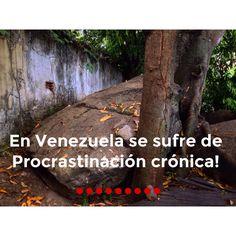 En Venezuela sufrimos de Procrastinación crónica.