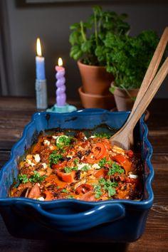 Feta, Paella, Bacon, Tapas, Recipies, Clean Eating, Food And Drink, Olsen, Dinner
