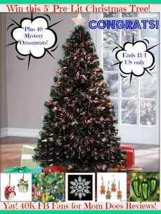 Win a 5ft Christmas Tree with 40 Ornaments
