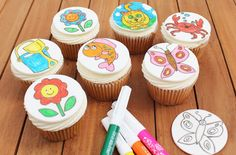 Make with kids: Colour-in cupcakes