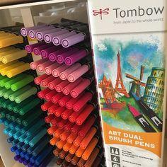 Oh Hello New Tombow colors! #tombow #tombowdualbrushpens #rainbow