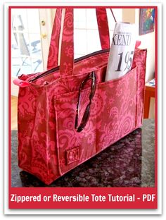 Sweetbriar's Reversible Tote – PDF Sewing Pattern + How to Insert a Zip Into Any…