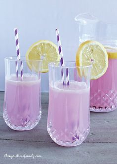 Your kids will love the purple color of this Lavender Lemonade recipe—you'll love that it only takes a few ingredients to make!