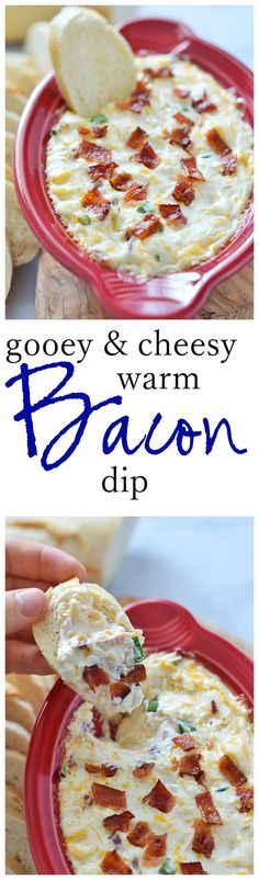 Gooey and Cheesy Warm Bacon Dip
