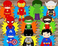 Superhero Party Decorations Superhero Pop Art by KawaiiKidsDesign