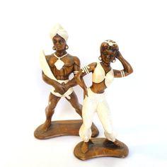 MAD MEN TIKI Figurines/ Warrior and by orangedoorvintage on Etsy, $32.00