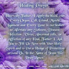 Healing prayer for Ken Carroll and my family.