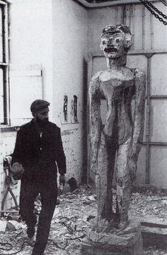 Georg Baselitz in his studio