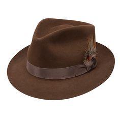 d69dff4669d1f Fedora modelo Benchley  Stetson Fieltro de pelo 100% castor  Check Hats For  Men