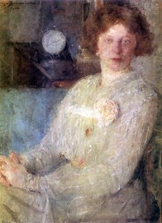 Boznanska_Olga  portrait of a woman