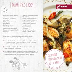 Chicken doesn't have to be bland and boring - we've packed bold flavours from Italy into this recipe for Italian style chicken, to make a dish that is uncomplicated but full of flair. Steam Recipes, Vegetarian Options, Italian Dishes, Stuffed Green Peppers, Fennel, Italian Style, Recipe Collection, Chicken Recipes, Cooking Recipes