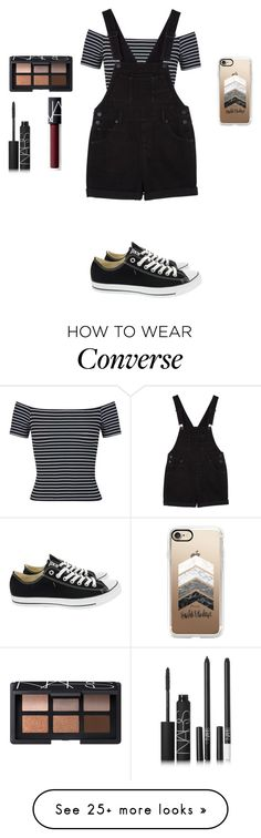 """""""❤️"""" by smoorestsweet on Polyvore featuring Miss Selfridge, Monki, Converse, NARS Cosmetics and Casetify"""